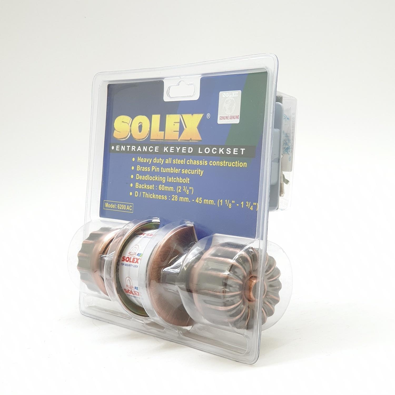 SOLEX ลูกบิดประตูห้องทั่วไปหัวมะยม   6100AC สีทองแดงรมดำ สีแดง