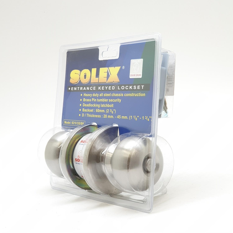 SOLEX กุญแจลูกบิดห้องน้ำ 9210SS สีขาว