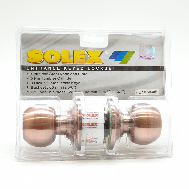 SOLEX Bathroom Knob 5500 AC/BK  สีแดง