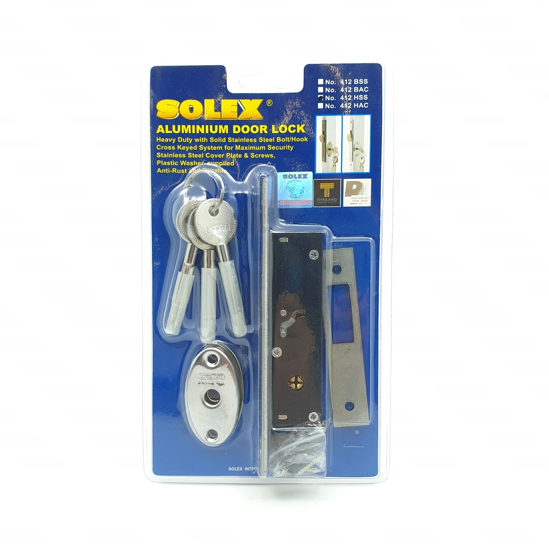SOLEX Sliding Door Key 412HSS สีขาว