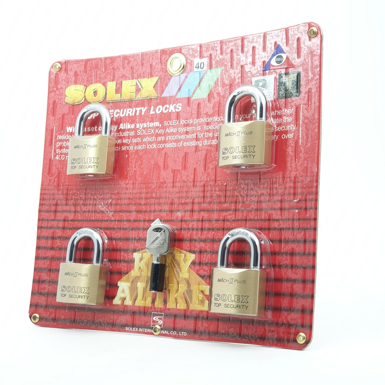 SOLEX KEY ALIKE กุญแจคล้อง 4:1 MACH II 40 MM