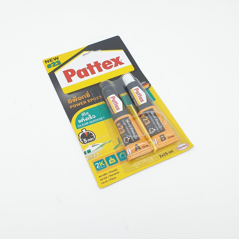 PATTEX กาวดูโร่อีพ็อกซี่สีใสแห้งเร็ว ขนาด 20ml.
