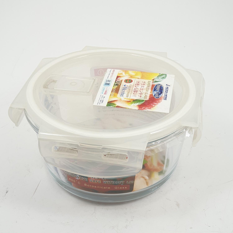 SUPER LOCK กล่องอาหารกลม 750 ml.  6082 ขาว