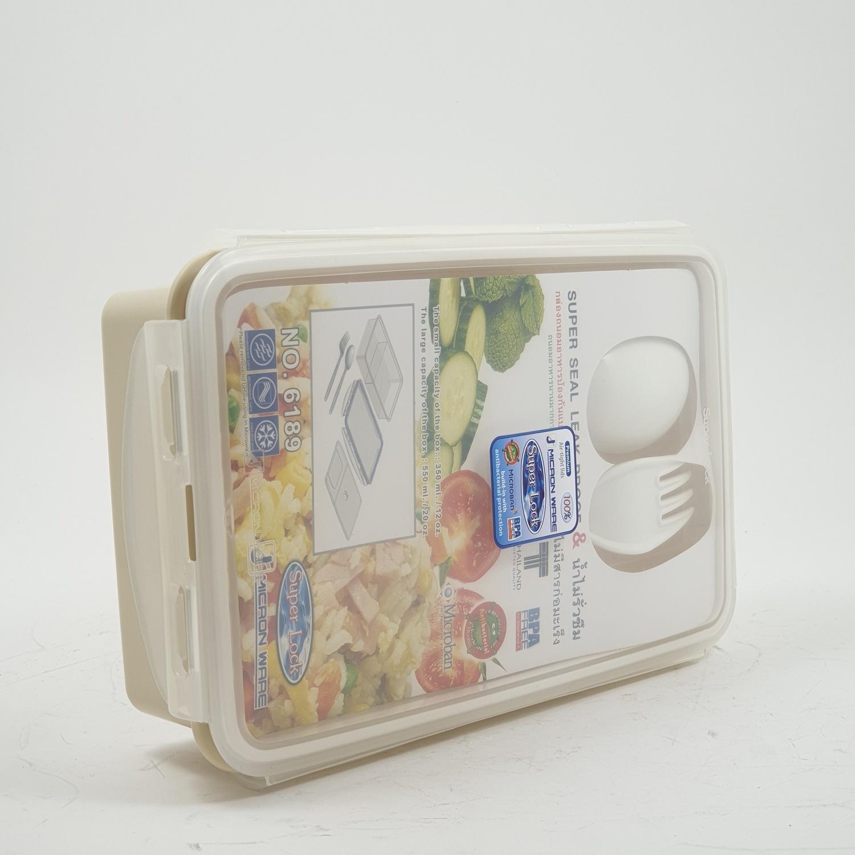 Superlock กล่องถนอมอาหารพร้อมช้อนส้อม 6189