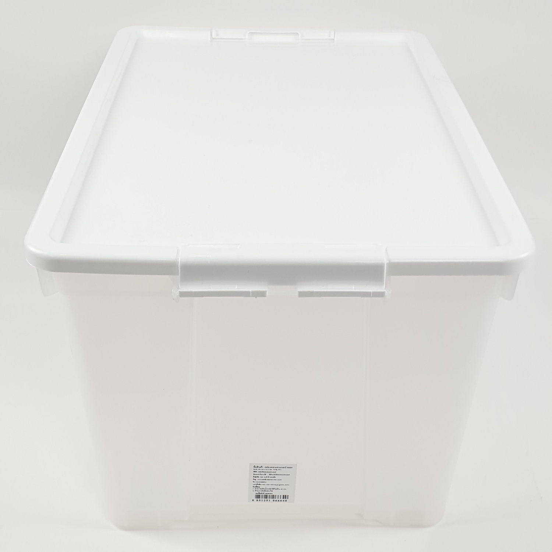 MICRONWARE กล่องอเนกประสงค์หูล๊อดขาวใส  ขนาด 40x62x33.5CM. 6664