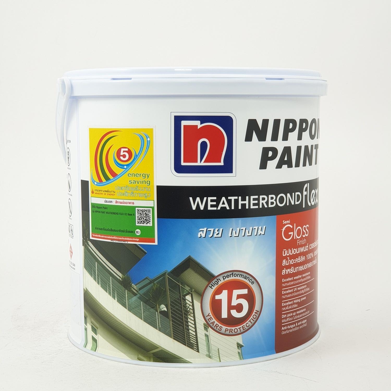 NIPPON สีน้ำอะครีลิค Weatherbond Flex ขาว