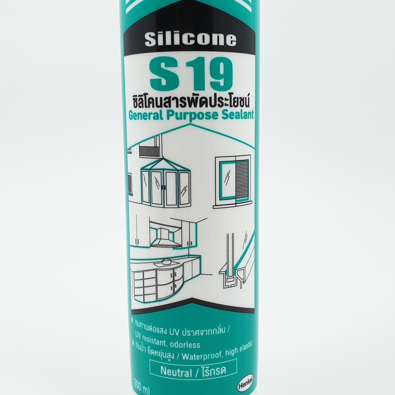 Sista  ยาแนวซิลิโคนสารพัดประโยชน์ ขนาด 300 มล  S19 สีขาว