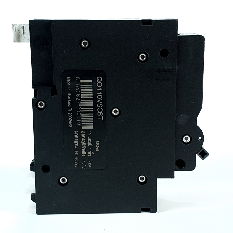 SCHNEIDER เบรคเกอร์ 1P 10A 6KA QO110VSC6T สีดำ