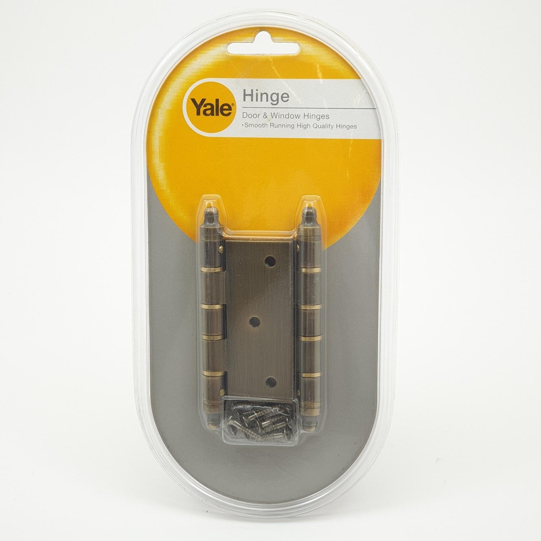 YALE บานพับประตู แกนเล็กหัวจุก มีหมุด HI-AB33 ทองเหลืองรมดำ