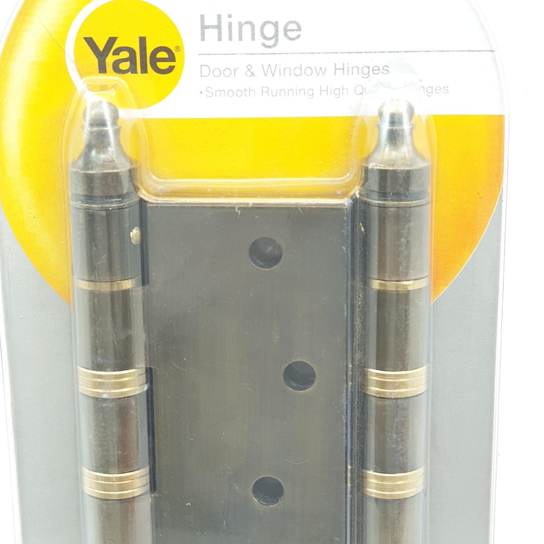 YALE บานพับแกนใหญ่ ขนาด 4 นิ้ว HIAB44 ทองเหลืองรมดำ