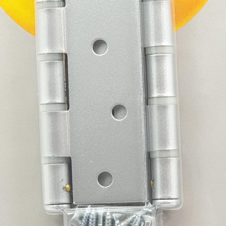 YALE บานพับประตู แกนเล็กหัวตัดมีหมุด HIN43SS สีเทา