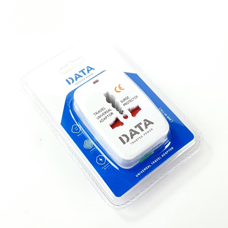 DATA ปลั๊กเอนกประสงค์ 1ช่อง ขาเสียบ 3 แบบ DP9 สีขาว