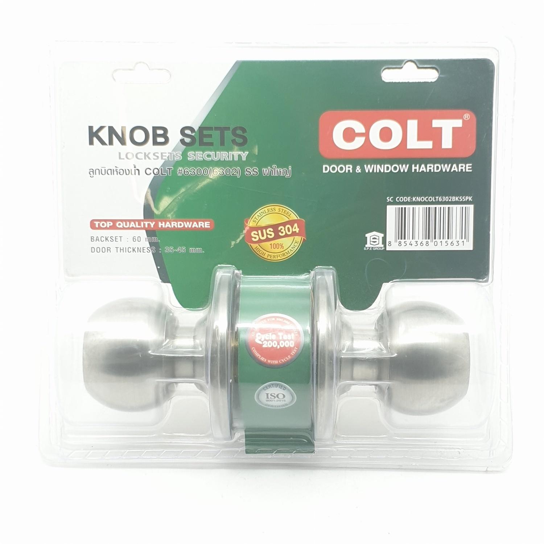 COLT ลูกบิดห้องน้ำ   6302 SS แผง (ฝาใหญ่)