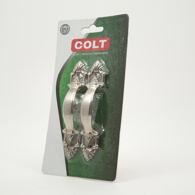 COLT มือจับ COLT #777 120mm. SS รุ่นแผง 1X2 (ฟิล์มหด) - สีโครเมี่ยม