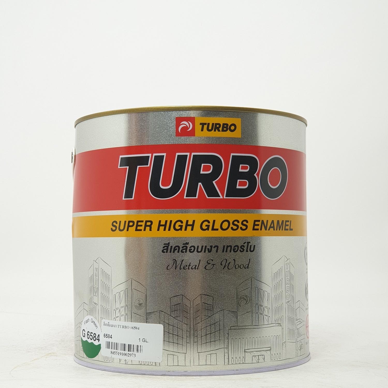 TURBO สีเคลือบเงา 1กล. #6584 Spring สีเขียว