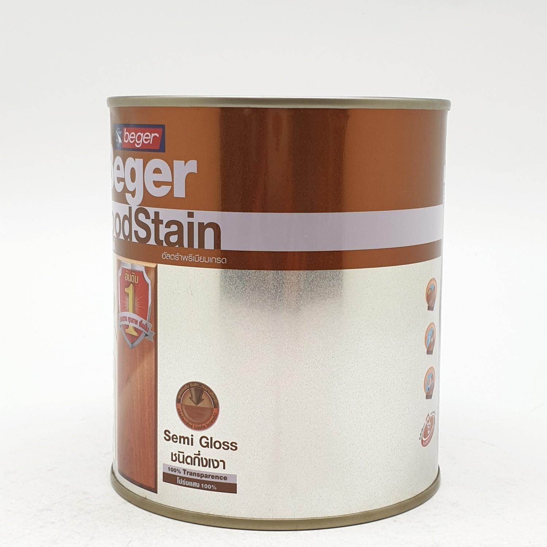Beger สีย้อมไม้ชนิดกึ่งเงา วูดสเตน  S-2901 (GOLDEN TEAK/สีไม้สักทอง)