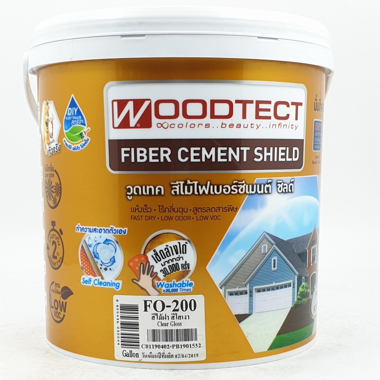 WOODTECT ไฟเบอร์ซีเมนต์สีเคลือบใส FO200
