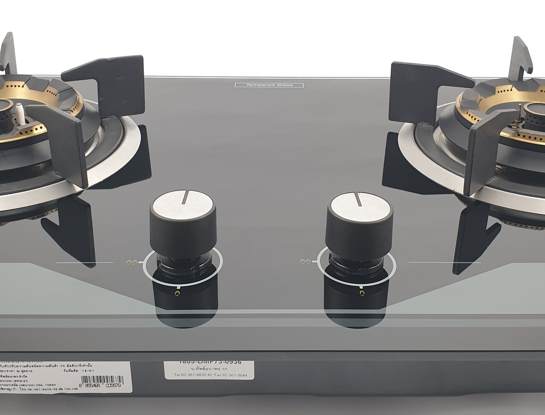 AXIA เตาแก๊ส 2 หัวเตา แบบฝัง DMF73-2G สีดำ