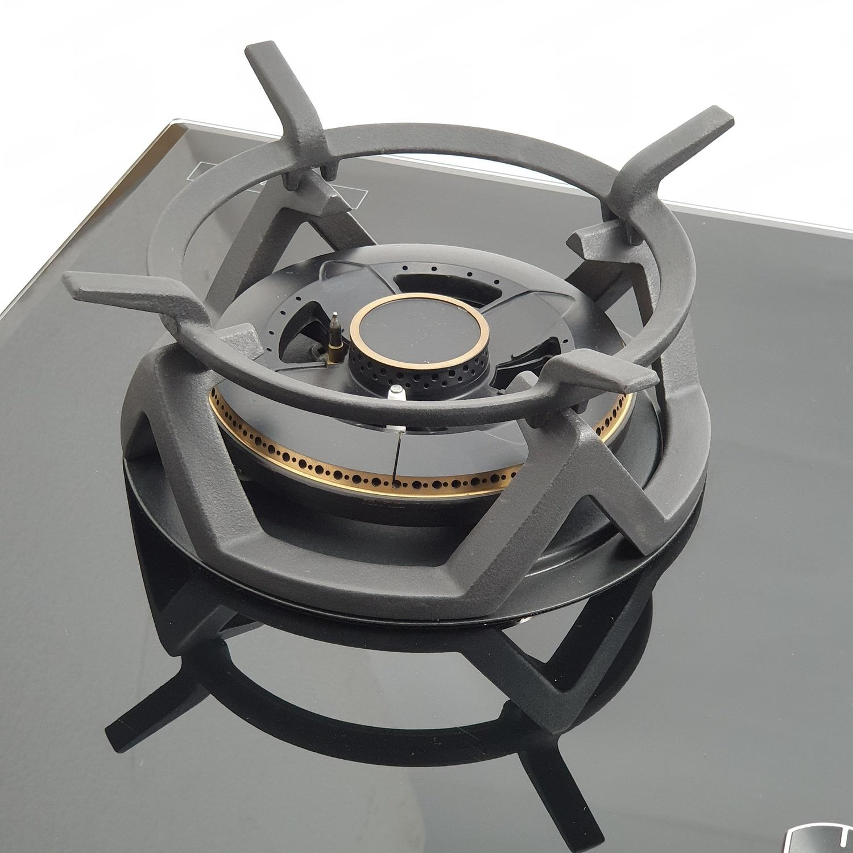 AXIA เตาแก๊สหน้ากระจกแบบฝัง 3 หัวเตา ROSEE 78-3G  สีดำ