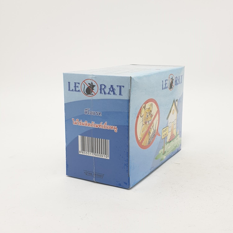ลีโอแรท ก้อนไล่หนู ลีโอแรท-ชนิดกล่อง  (60 กรัม) ฟ้า