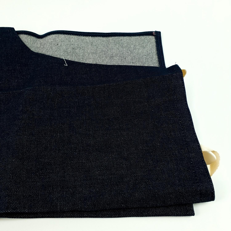 PARAGON ผ้ากันเปื้อนแบบยีนส์ ผ้ายีนส์สายผูกคอตตอน สีน้ำเงิน