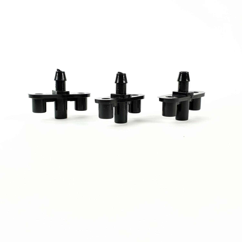 Super Products ข้อต่อสำหรับต่อหัวพ่นหมอก (10 ตัว / แพ็ค) FogBase ดำ