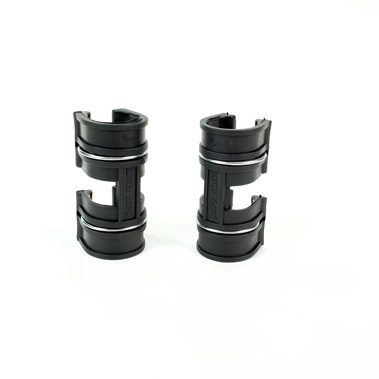 Super Products ตัวล็อคสแลน พลาสติก 2 ชั้น 1/2 นิ้ว (5 ตัว / แพ็ค) GC X ดำ