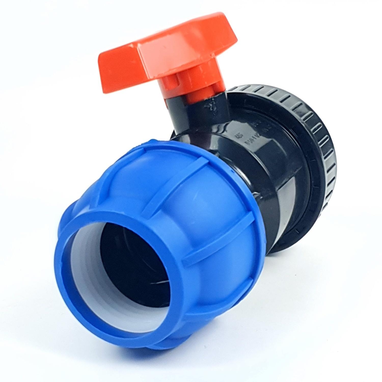 Super Products วาล์วABS-ข้อต่อแรงดันสูง 1นิ้วX32 339-121032 UCV ดำ-ฟ้า