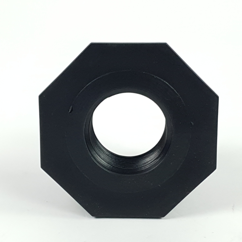Super Products ข้อลดเหลี่ยมเกลียวนอก - ใน 2 นิ้ว x 1 นิ้ว RMF ดำ
