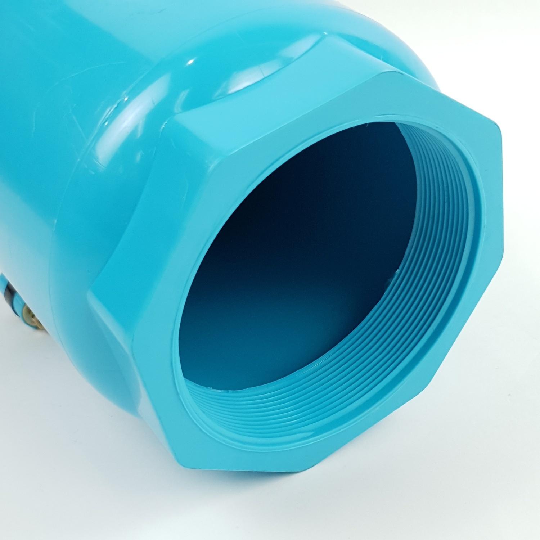 Super Products ฟุตวาล์วชนิดลิ้นพลาสติก 4 นิ้ว BFV-N ฟ้า