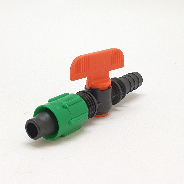 Super Products วาล์วสำหรับเทปน้ำหยด ท่อพีอี 16 มม. (5 ตัว/แพ็ค) TV 3