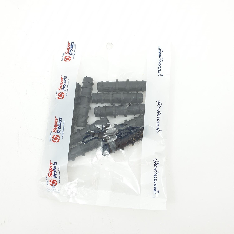 Super Products ข้อต่อตรง 12 มม. (10 ตัว/แพ็ค) SJ ดำ