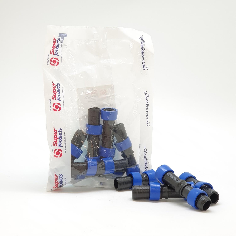 Super Products ข้อต่อตรงสำหรับเทปน้ำหยด (10ตัว/แพ็ค) D-TC