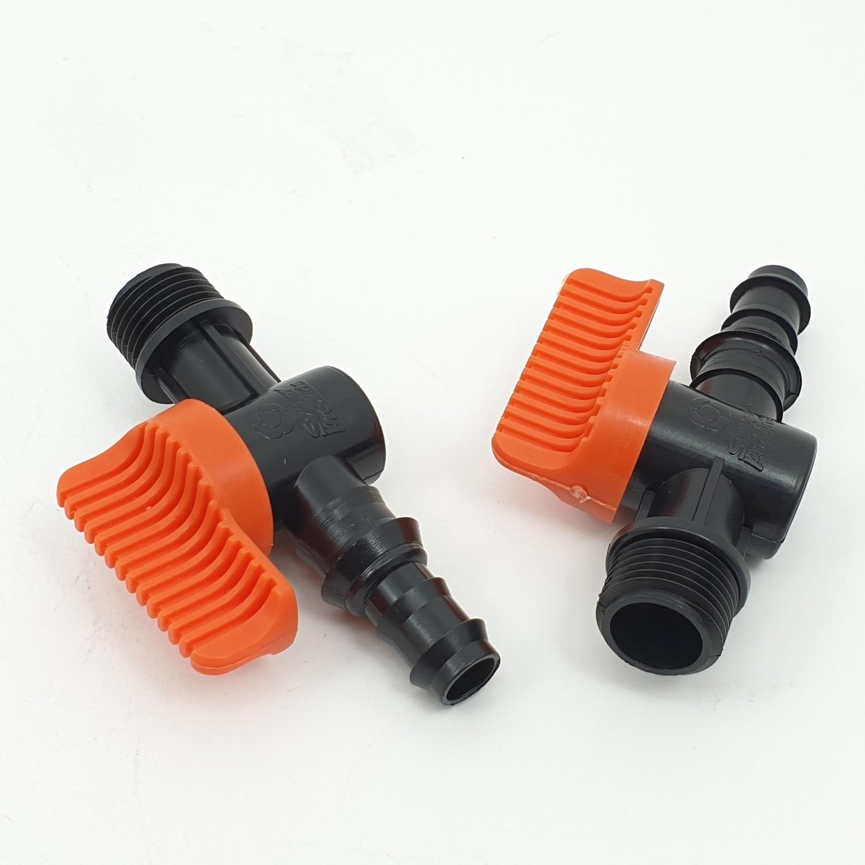 Super Products วาล์วเกลียว 1/2 นิ้ว และท่อพีอี ขนาด 16 - 20 มม. (5ตัว/แพ็ค) LV 12 PE