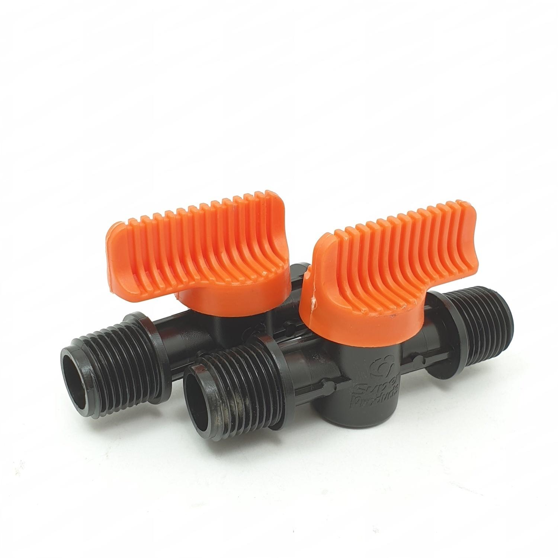 Super Products วาล์วเกลียวสองข้าง 1/2 นิ้ว (5ตัว/แพ็ค) LV12