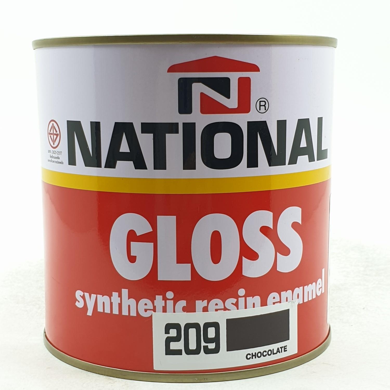 NATIONAL สีเคลือบน้ำมันเงา 209 น้ำตาลเข้ม