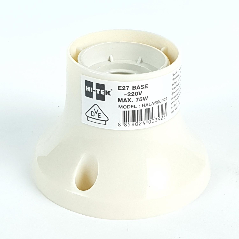 HI-TEK ขั้วแป้น E27 มาตรฐาน VDE (เยอรมนี) HALAS00027