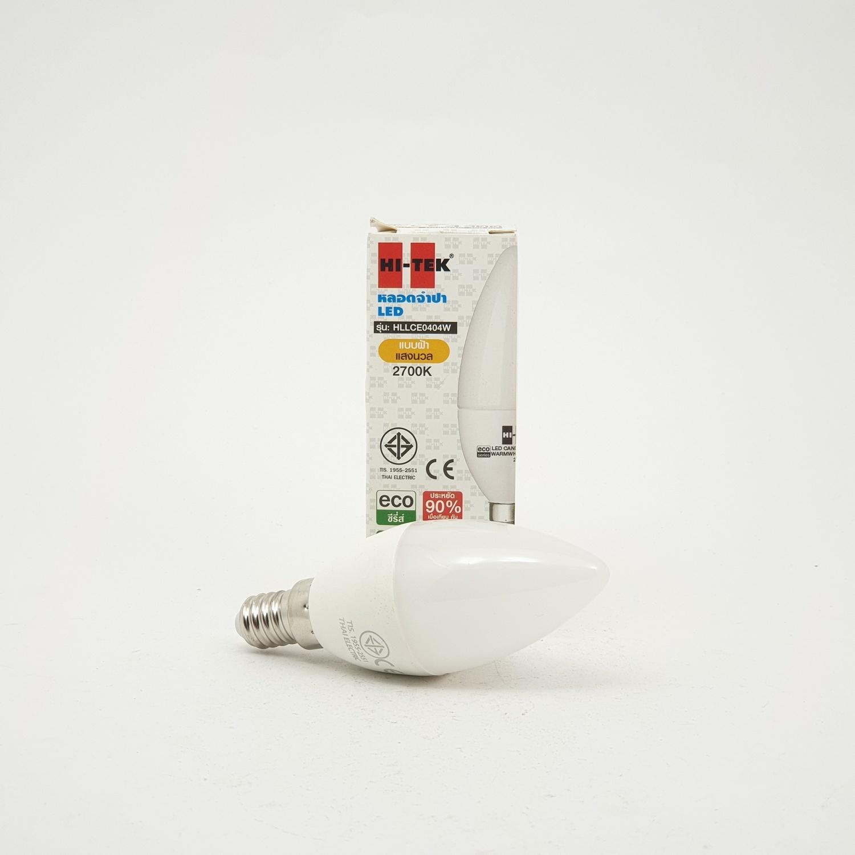 HI-TEK หลอดจำปา LED แสงวอร์ม HLLCE0404W
