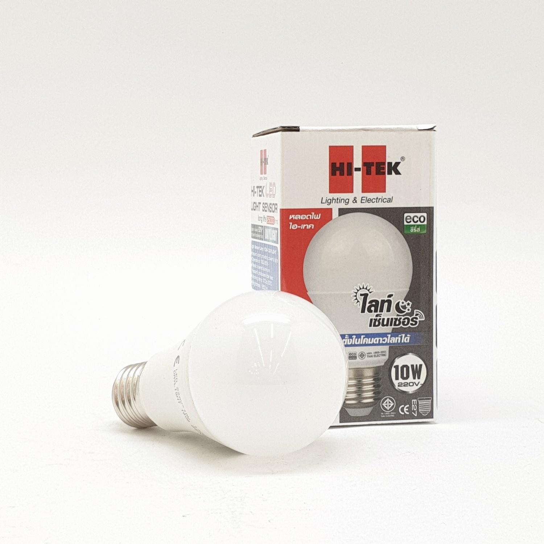 HI-TEK หลอด LED ECO Series Light Sensor 10 วัตต์ ขั้ว E27 แสงขาว  HLLDS2710D