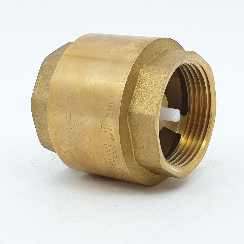 ANA เช็ควาล์วสปริง ANA 11/4 ก5E117-0-032-000-5-B ทองเหลือง