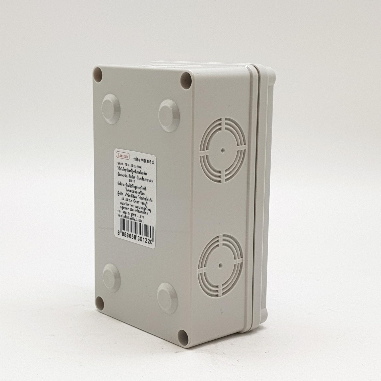 Leetech กล่องกันน้ำลีเทค WB 305 G  เทา WB 305 G เทา
