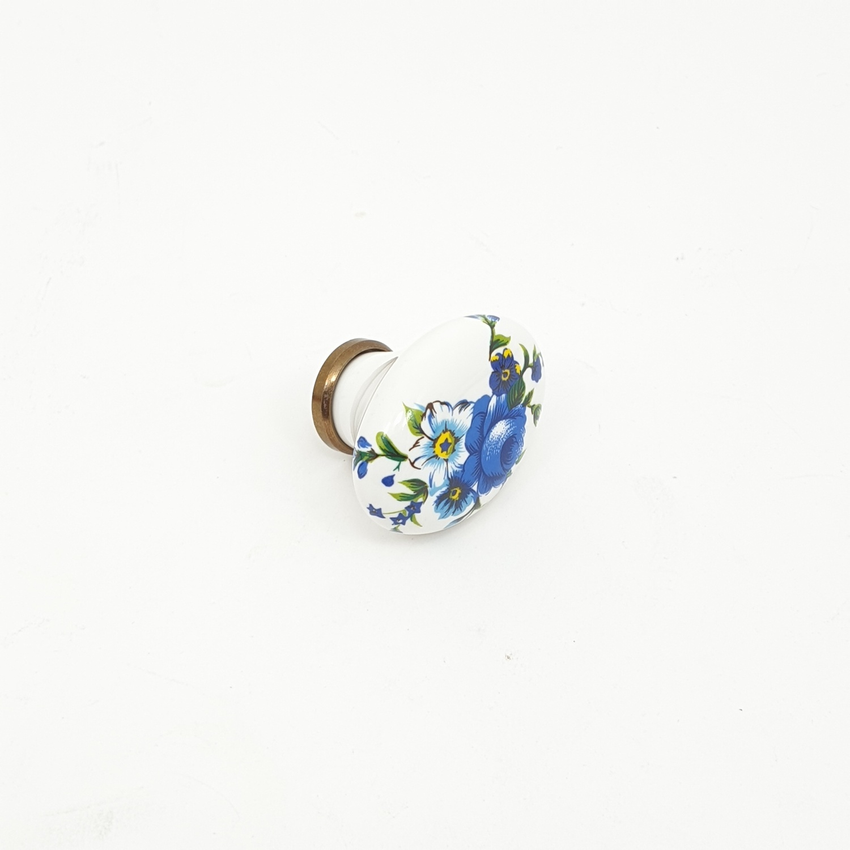 HAFELE ปุ่มจับเฟอร์นิเจอร์ 35x25x24มม.481.22.124 481.22.124 ขาว/ดอกไม้
