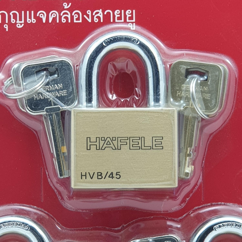 HAFELE กุญแจล็อค สายยู มาสเตอร์คีย์  ขนาด 45 มม. 3 ตัว  482.01.986 ทองเหลือง