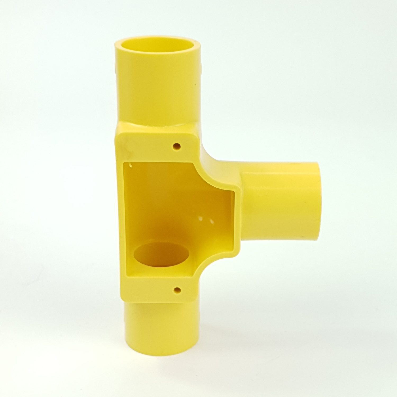 SCG สามทางฝาเปิด-ร้อยสาย เหลือง 18  สามทางฝาเปิด-ร้อยสาย เหลือง 18