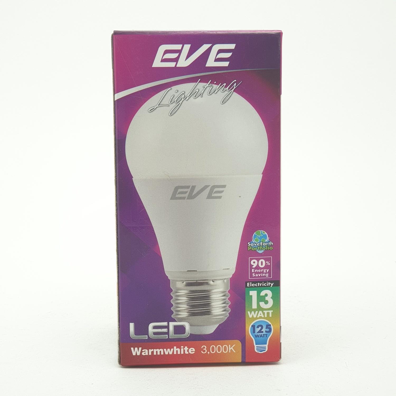 EVE หลอดแอลอีดี  13วัตต์ วอร์มไวท์ E27 A60
