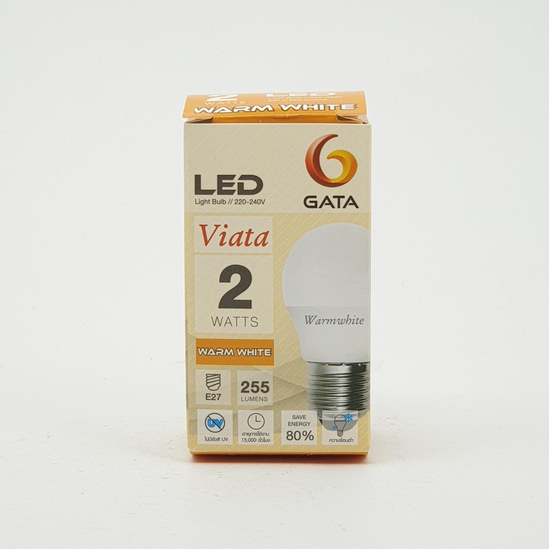 GATA หลอด LED 2W ฝาขุ่น E27 Warm
