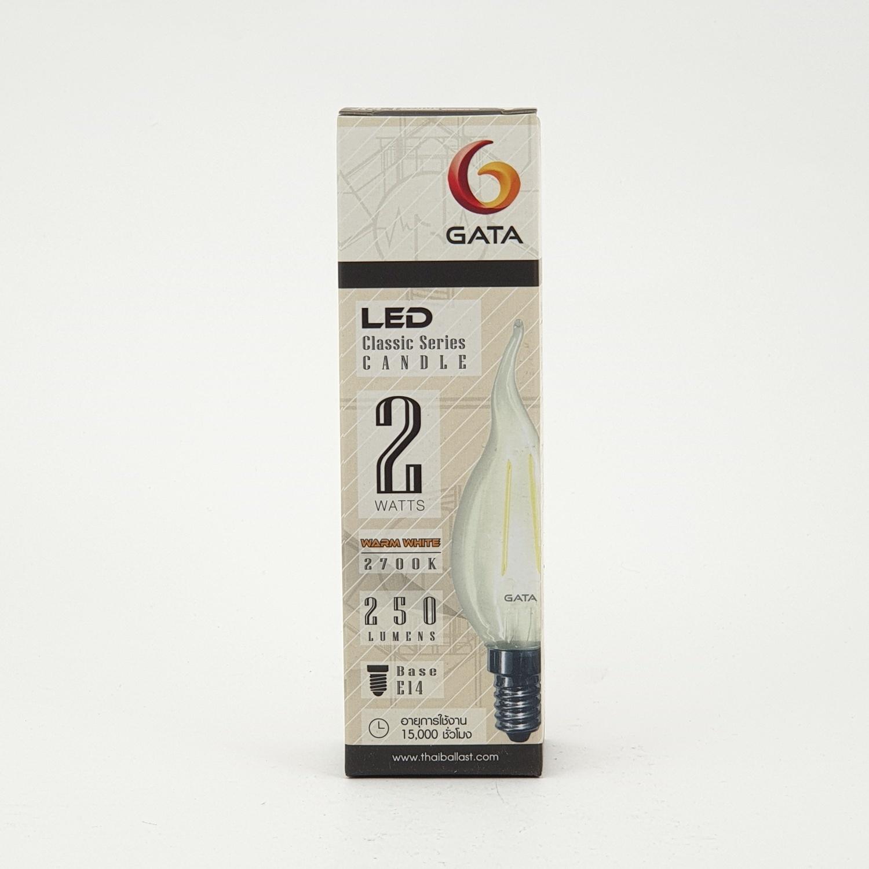 GATA หลอด LED 2W (เปลวเทียน) Candle 2W E14