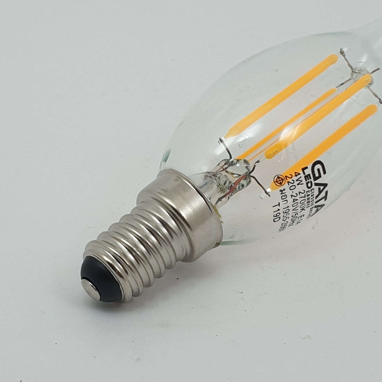 GATA หลอด LED 4W (เปลวเทียน) Candle 4W E14 ขาว-เหลือง
