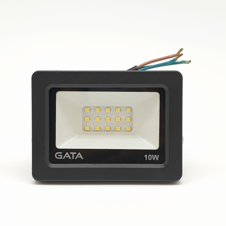 GATA โคมฟลัดไลท์ LED 10W  เดย์ (สว่างพิเศษ) - สีดำ
