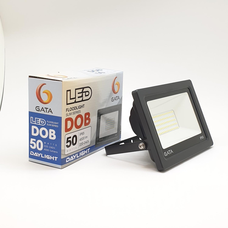 GATA โคมฟลัดไลท์ LED 50W.  Day สีดำ